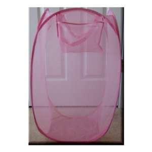 Jumbo X Large Pink Mesh Pop Up Laundry Clothes Hamper