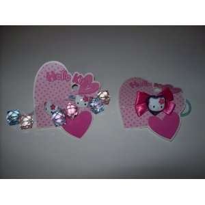 Hello Kitty Hair Accessory Set Ponytail Holders Lot of TWO