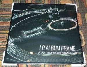 NEW black Wallmount FRAME/Wall DISPLAY w/glass for Vinyl Record Album
