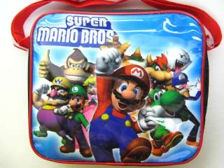 Nintendo Super Mario, Luigi, yoshi (lunch bag & bottle)
