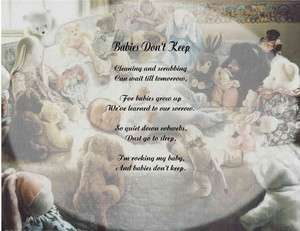 BABY PERSONALIZED POEM BABIES DONT KEEP