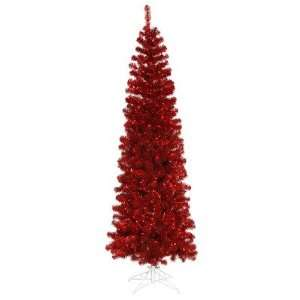 120 Artificial Pencil Christmas Tree in Red