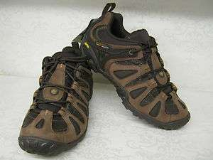 Chameleon 3 Axiom Dark Earth Leather Lace Up Walking Sports Trainers