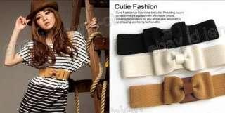 Japan Korea Popular Simple Bow Elastic Belt Waist Belt