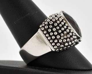 Michael Dawkins Sterling Silver Brown Topaz Ring Size 10 1/4
