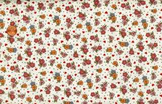 CLEARANCE   SWEET VALENTINE FLOWERS & HEARTS FABRIC