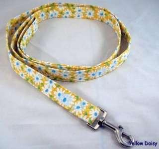 Yellow Daisy Flowers Dog Collar or Leash