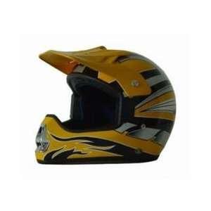 DOT ATV Dirt Bike MX Yellow Motorcycle Helmet Automotive