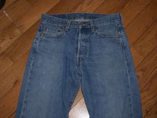 MENS LEVIS STRAUSS 501 BUTTON FLY JEANS 29 W 30 L WOW