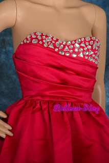 Red Homecoming Party Cocktail Bridesmaid Dress XXS S