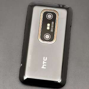 Plastic Case Skin Cover for HTC EVO 3D + DragonCell Premium Clear Film