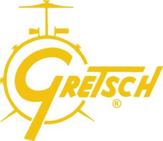 Gretsch Drum Set Logo RUB ON Car Window OUTSIDE Sticker Decal   GOLD