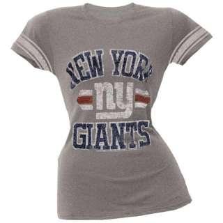 New York Giants   Vintage Logo Juniors Varsity T Shirt