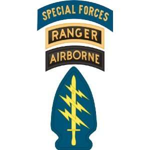 United States Army Special Forces Airborne Ranger Tab Decal Sticker 5