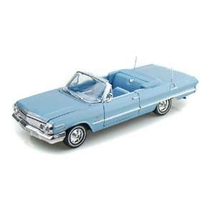 1963 Chevy Impala Convertible 1/26   Blue: Toys & Games