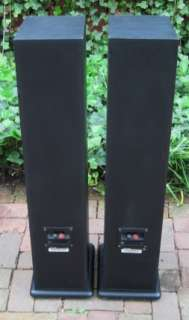 AUDIO R 40 R40 MONITOR TOWER SPEAKERS~HOME AUDIO~THEATER~BLACK~WORKING