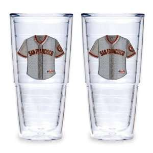 San Francisco Giants (Home Jersey) Set of TWO 24 oz. Big T Tervis