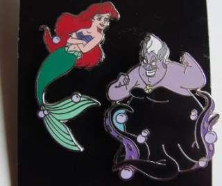 Ariel and Ursula PIN SET  LITTLE MERMAID PIN  DISNEY PIN LOT