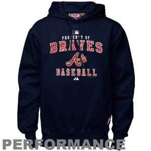Atlanta Braves Navy Blue Property Of Performance Hoody Sweatshirt