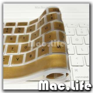 METALLIC GOLD Keyboard Cover Skin for Macbook White 13