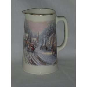 Thomas Kinkade Village Christmas 1 Qt. Pitcher  Kitchen