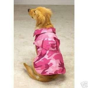 Casual Canine Camo Dog Jacket LARGE PINK