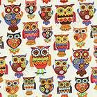 Timeless Treasures Owl & Apple Cream Novel