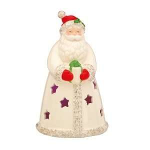 Lenox Christmas Seasons Sparkle Lighted Santa: Kitchen