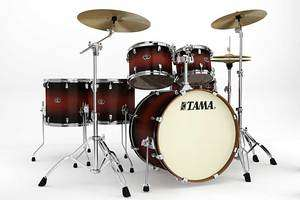 Silverstar 6pc All Birch Drum Set 22 Bass   Satin Cherry Burst   New