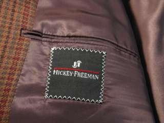 Hickey Freeman Brown Plaid Sport Coat 56 R / 46 R