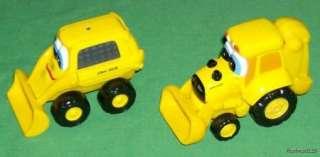 Yellow Ertl John Deere Toy Bulldozer & Backhoe