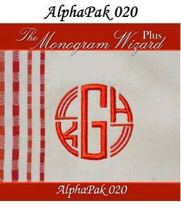 Monogram Wizard Embroidery Software Alpha Pak #1 22 New
