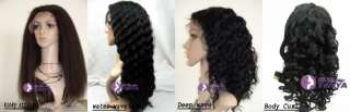 Cap / Lace Front wig India Remy 100% Human Hair Wigs ☆☆