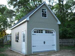 AMISH 12x20 SINGLE CAR 2 STORY VINYL GARAGE SHED NEW!!