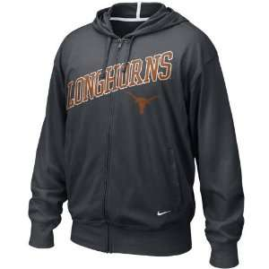 Nike Texas Longhorns Black Off Campus Full Zip Hoody Sweatshirt