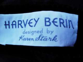 Vintage Harvey Berin Karen Stark Black Velvet Dress B36