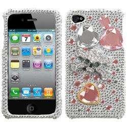 Apple iPhone 4/4S Jewelry Box Skull 3D Rhinestone Case
