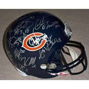 2010 CHICAGO BEARS Team Signed F/S HELMET 30 + AUTOS   Autographed