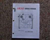 AKAI GX 625 Reel to Reel Service Manual FREE SHIP!