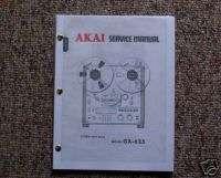 AKAI GX 625 Reel to Reel Service Manual FREE SHIP |