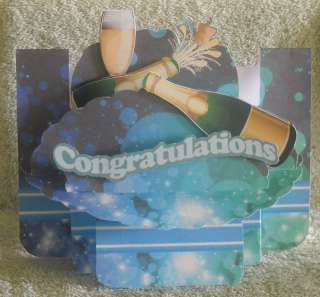 HANDCRAFTED BEAUTIFUL FUNKY 3D CONGRATULATIONS CARD