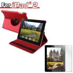 Leather Case Stand/ Screen Protector for Apple iPad 2