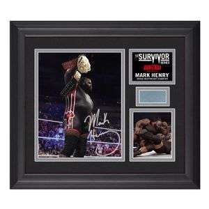 WWE MARK HENRY SURVIVOR SERIES SIGNED PLAQUE WITH WWE COA