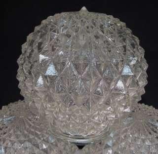 VTG ART DECO GLASS CEILING LIGHT~CHANDELIER GLOBE SHADES~ENGLISH