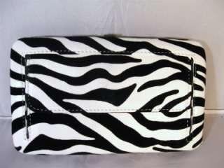 Zebra Rhinestone Cross Black White Western Fringe String Bag Purse and