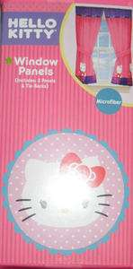 HELLO KITTY KIDS BEDROOM CURTAIN PANELS NEW
