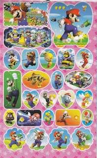 Super Mario Bros Birthday Party Card 190 Stickers Book