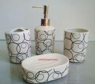 Pieces Ceramic Bathroom Accessories Set Vanity Dispenser YC 1012