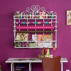 Miliam White Wall Mount 2 Shelf Storage Rack