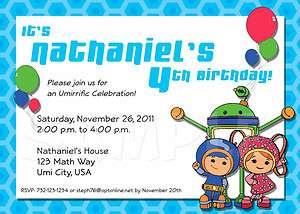 Birthday Party Personalized Custom Invitation   Multiple Designs